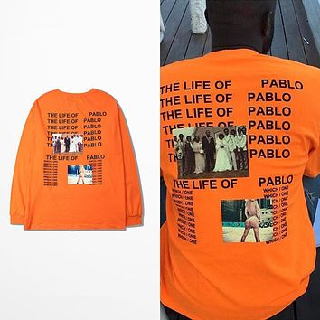 Kanye West Yeezy The I Life Of Pablo Kanye T shirt Men Summer Brand Clothing T-Shirt I