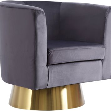 Bellagio Grey Velvet Accent Chair