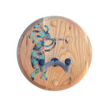Kokopelli Guitar Wall Hanger on Cherry Wood