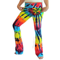 Rainbow Stained Glass Yoga Tie Dye Pants on Sale for $29.95 at The Hippie Shop