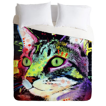 Dean Russo Curiosity Cat Duvet Cover
