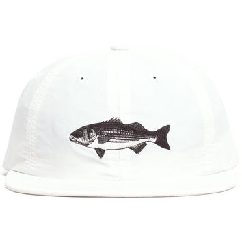 Striped Bass Polo Hat White