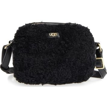 UGG® Claire Genuine Shearling Crossbody Bag | Nordstrom