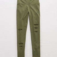 Aerie Chill High Waisted Legging, Olive Fun