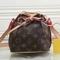Louis Vuitton Women Leather Crossbody Satchel Shoulder Bag