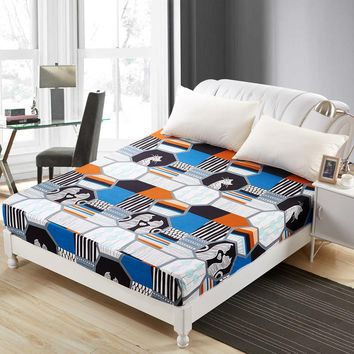 Polyester Bed Printed Sheet with Elastic Band