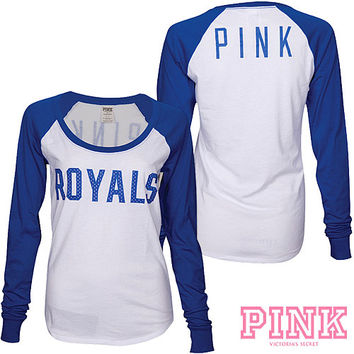 Kansas City Royals Victoria's Secret PINK® Drapey Baseball T-Shirt - MLB.com Shop