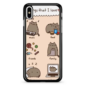 Pusheen Cat Wish iPhone X Case