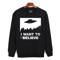 The X-Files: I Want to Believe Sweater sweatshirt unisex adults size S-2XL