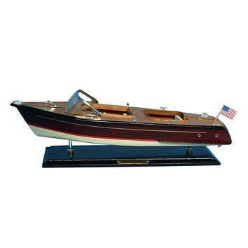 Wooden Chris Craft Runabout Model Speedboat 20""