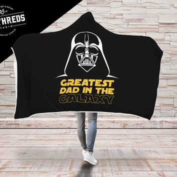 Greatest Dad in the Galaxy Hooded Blanket