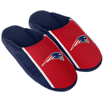 New England Patriots Adult Slide Slippers Jersey Sandal House Shoes Licensed New