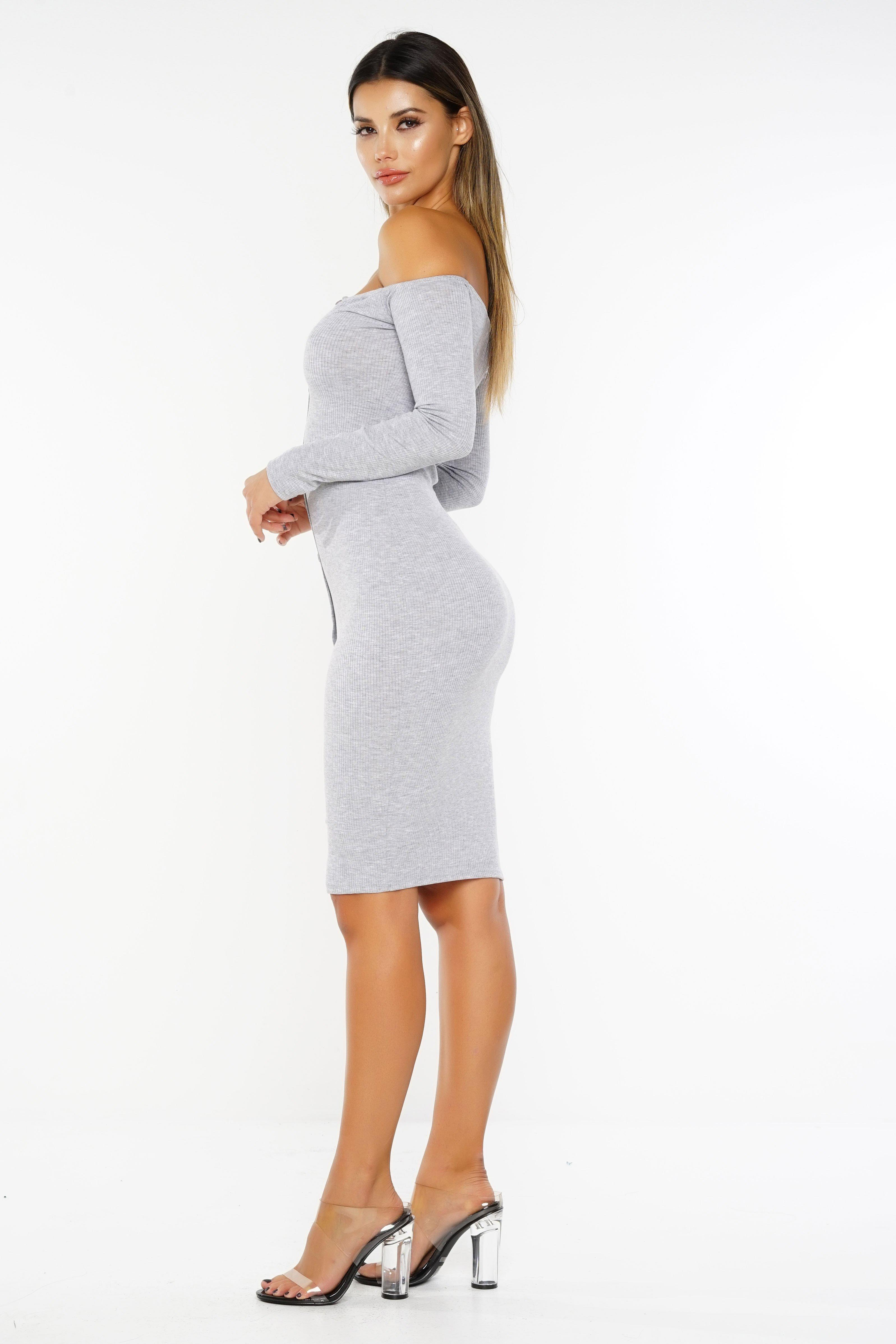 562cf35ae3634 Emily Dress - Grey from WantMyLook
