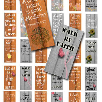 Religious sayings digital collage sheet domino size, Spiritual quotes digital download, Magnets, Pendants, Key chains, Paper crafts
