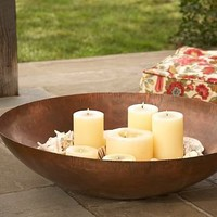 Oversized Round Candle Tray | Pottery Barn