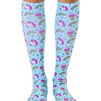 Unicorn Party Knee High Socks