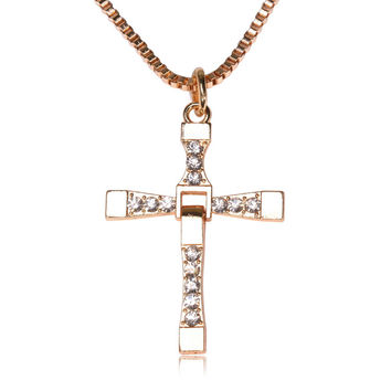 Jewelry Gift New Arrival Shiny Stylish Star Gold Silver Cross Rack Environmental Men Necklace [6526583427]