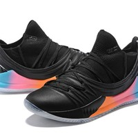 Under Armour UA Curry 5 Black Colorful Basketball Shoe