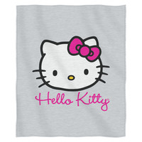 Hello Kitty-Cursive Kitty Entertainment 50x 60 Sweatshirt Throw
