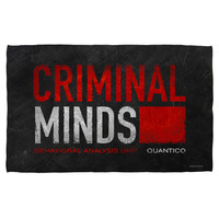 CRIMINAL MINDS/LOGO-BATH TOWEL-WHITE-27x52