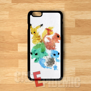 Pokemon Collection on Leather -tri for iPhone 6S case, iPhone 5s case, iPhone 6 case, iPhone 4S, Samsung S6 Edge