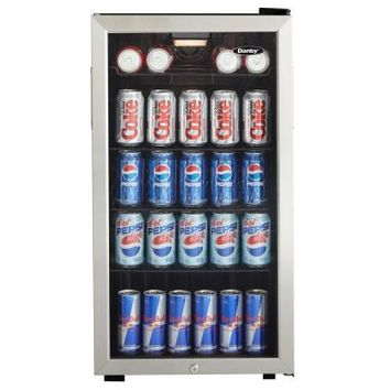 Danby 18 in. 120 (12 oz.) Can Cooler-DBC120BLS - The Home Depot