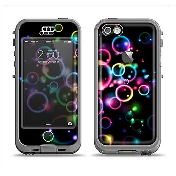 The Glowing Neon Bubbles Apple iPhone 5c LifeProof Nuud Case Skin Set
