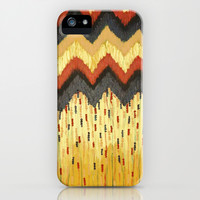 SHINE ON - Gold Glam Chevron Colorful Abstract Acrylic Pattern Painting Modern Home Decor Fine Art iPhone & iPod Case by EbiEmporium