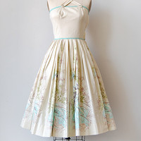 vintage 1950s scenic sundress [Lake Montamarte Dress] - $148.00 : ADORED | VINTAGE, Vintage Clothing Online Store
