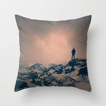 Lost the Moon While Counting Stars Throw Pillow by Soaring Anchor Designs