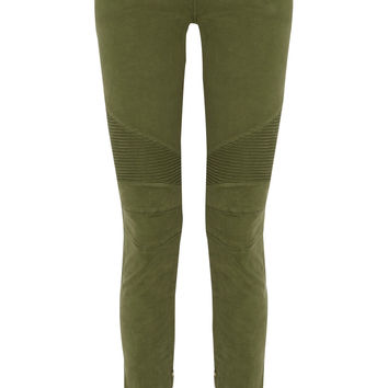 Low-rise cotton-blend skinny jeans | Balmain | US | THE OUTNET