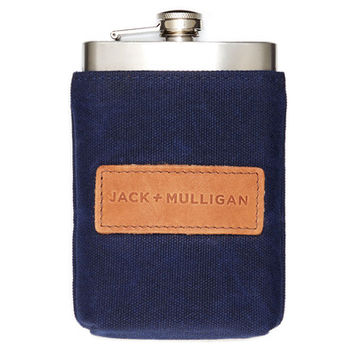 Redford Flask - Navy – Premium Accessories Handmade in the USA