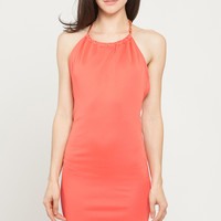 Halter Chain Solid Dress