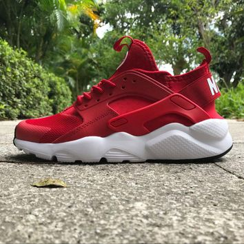 Best Online Sale Nike Air Huarache 4 Rainbow Ultra Breathe Men Women Hurache Red/White Running Sport Casual Shoes Sneakers - 117