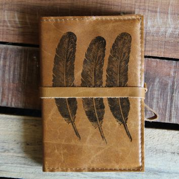Three Feathers Leather Journal