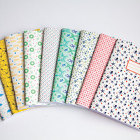Notebook - Set of 3 blank notebooks - Choose your Cahier Cover - Cute Paper Goods