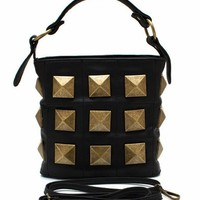pyramid-studded-bag BLACKGOLD - GoJane.com