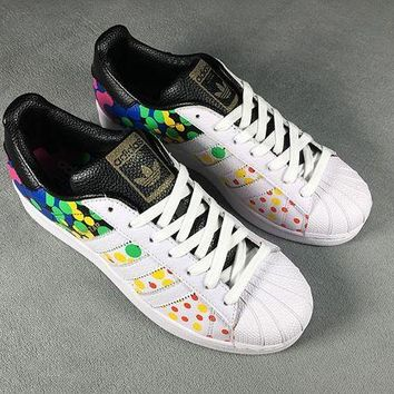 LMFON6GS Adidas Superstar Shell-toe Flats PRIDE PACK Sneakers Causel Sport Shoes