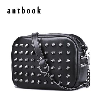 Free ship ! New 2017 fashion women's handbag candy color rivet chain bag shoulder bag women's neon color small bag