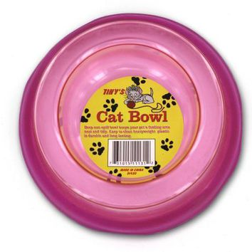 Durable Transparent Non-Spill Cat Bowl Set of 12 Pack