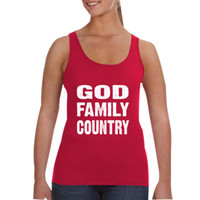 God Family Country - Ladies Tank Top