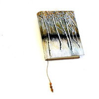 Birch Journal, 300 page Hardback Writer's Journal, Blank Book of Shadows, Nature Druid Grimoire