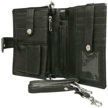 Large Leather Wallet Organizer, Phone Holder and Crossbody Purse