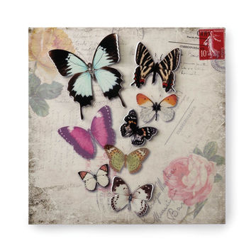 Butterfly Stamp Tin Wall Art