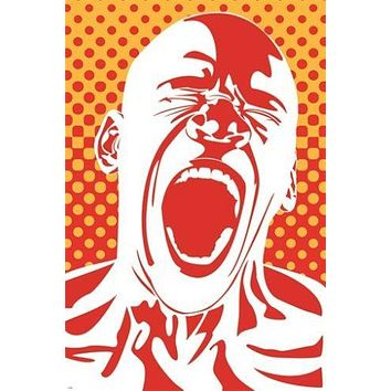 unleashed ANGER art poster TENSION YELLING unique emotional COLORFUL 24X36