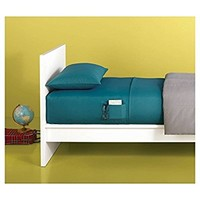 Dorm Bed XL Twin Microfiber Sheet Set with Storage Pocket (Cloudy Turquoise)
