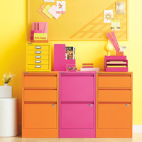 Pink Bisley 2- & 3-Drawer File Cabinets