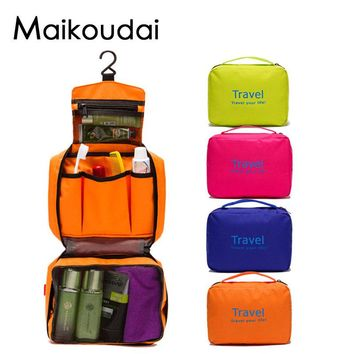Maikoudai Portable Waterproof Cosmetic Hanging Holiday Travel Toilet Bag For Women