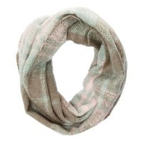 Multi Cozy Plaid Infinity Scarf by Charlotte Russe