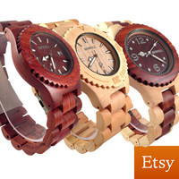 Wood Watch 3 Pack + 3 FREE Rosewood Buddhas